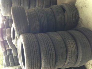 Stock of second hand and used car tyres shown. This includes used tyres for Toyota, Holden, Mitsubishi, Nissan, Ford, BMW and many other makes.
